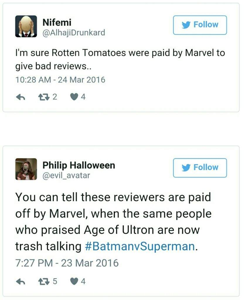 Bvs review from a marvel fan what caused the hate for bvs if not marvel illuminati then has to be a deep seeded marvel biased right buycottarizona
