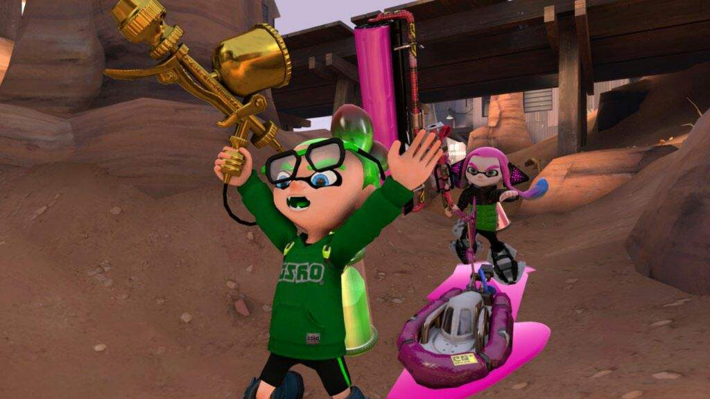 Made a promo for the new weapons coming to sfm and gmod    Splatoon