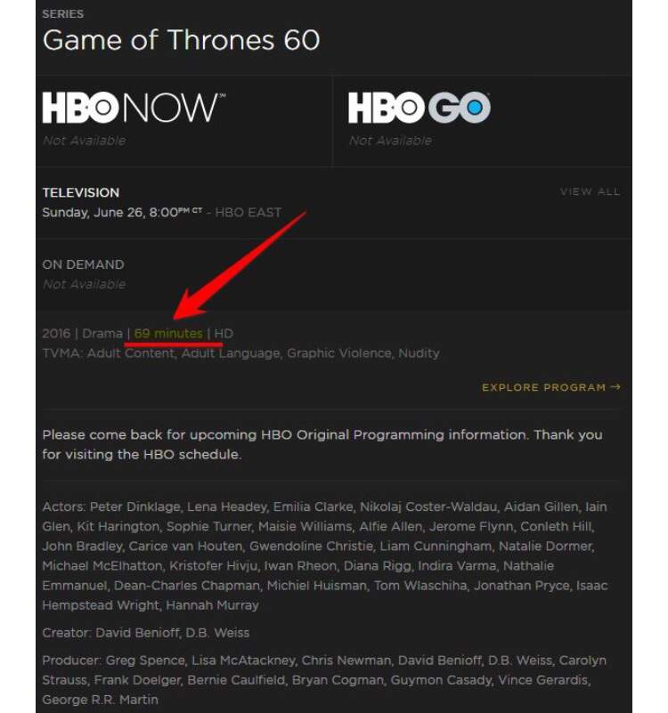 the season 6 finale will be the longest game of thrones episode in