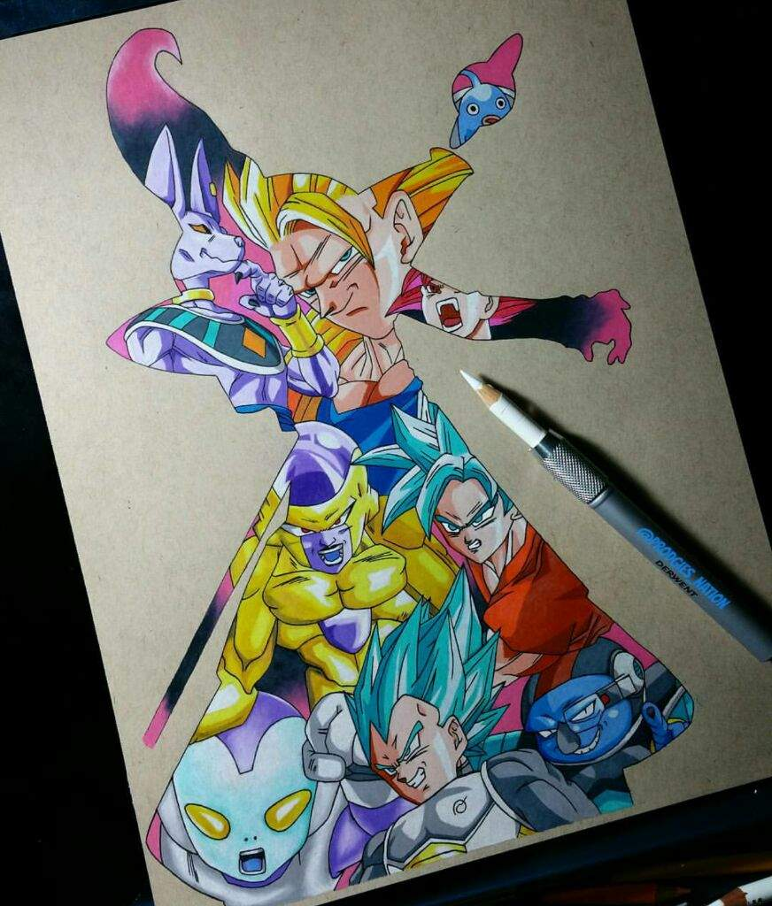 Dragon Ball Super Silhouette Drawing Color Pencils Dragonballz Amino