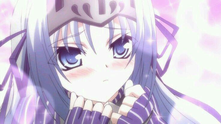 Chica pelo plateado anime