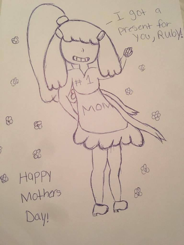 A late mothers day sketch cartoon amino
