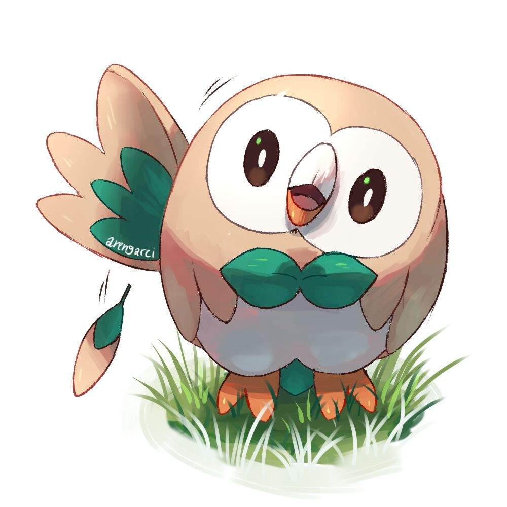 My Starter For Pokemon Sun And Moon Rowlet Pokémon Amino