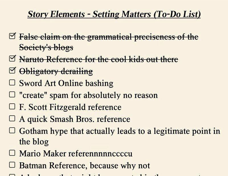 Story Elements Setting Matters Anime Amino