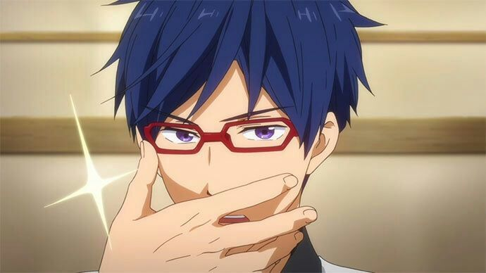 Rei Is A Muscular Young Man With Short Dark Blue Hair And Purple Eyes He Wears Red Framed Glasses His Usual School Uniform Consists Of Light Brown