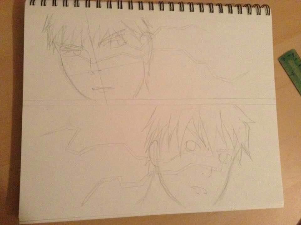 the zone drawing of kagami taiga and kuroko tetsuya anime amino