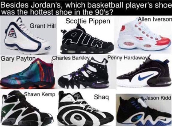 Who Had the Hottest Shoes in the 90s