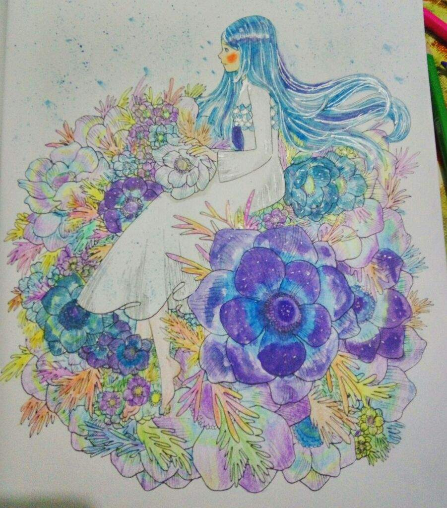 beautiful bloom a coloring book by deef art amino