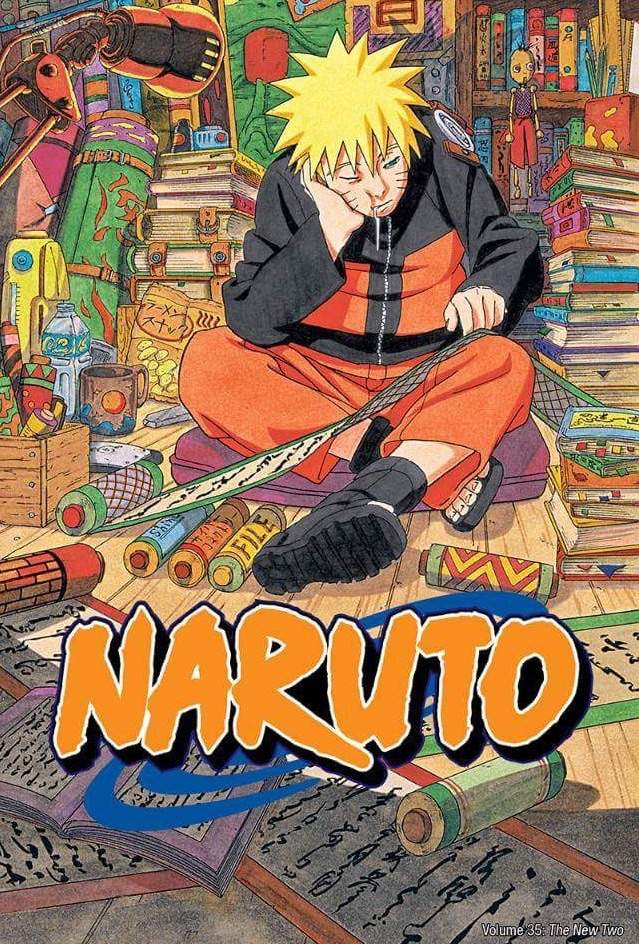 Ive Always Thought This Cover Was Funny It Reminds Me Of My Late Nights Studying For Finals Its One The Few Times That Naruto Is Drawn In Such A