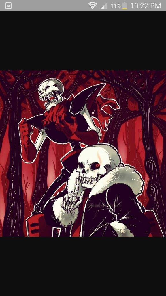 Who would win in a fight? Underfell Sans and papyrus or error sans