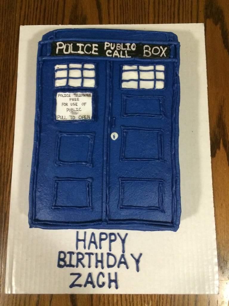 Surprising My Tardis Birthday Cake Doctor Who Amino Funny Birthday Cards Online Inifodamsfinfo