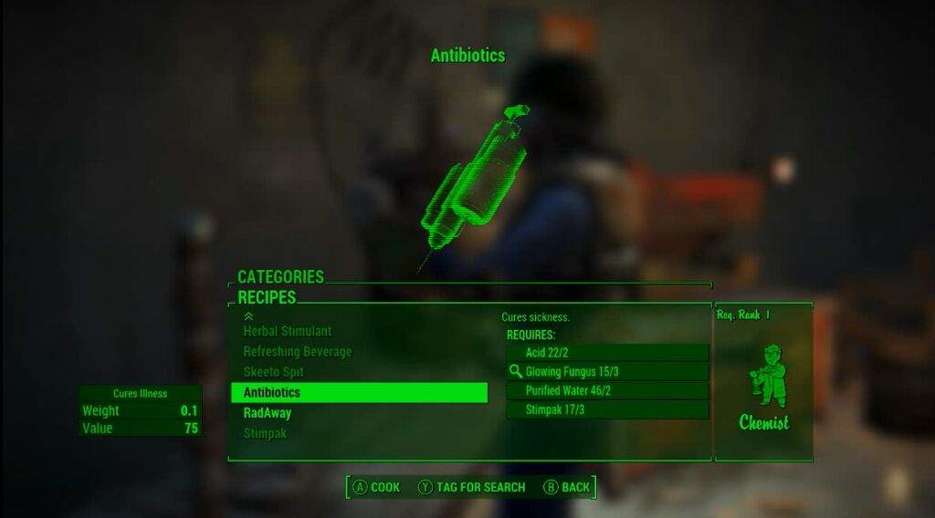 Fallout 4 survival mode tips 17 antibiotics fallout amino and so below ill list the requirements to craft antibiotics and what it takes or start crafting them solutioingenieria Image collections