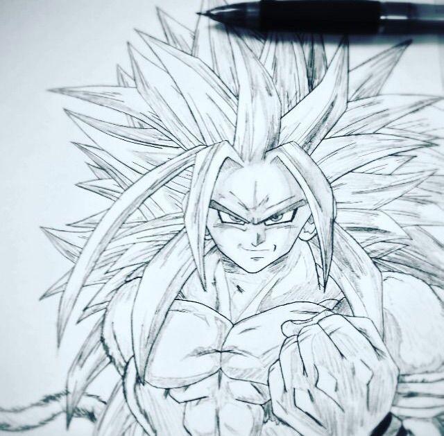 Super Saiyan 5 Goku Drawing Dragonballz Amino
