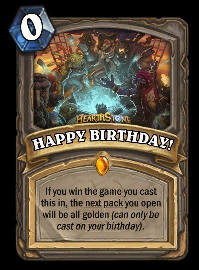 Happy Birthday Card Hearthstone Amino