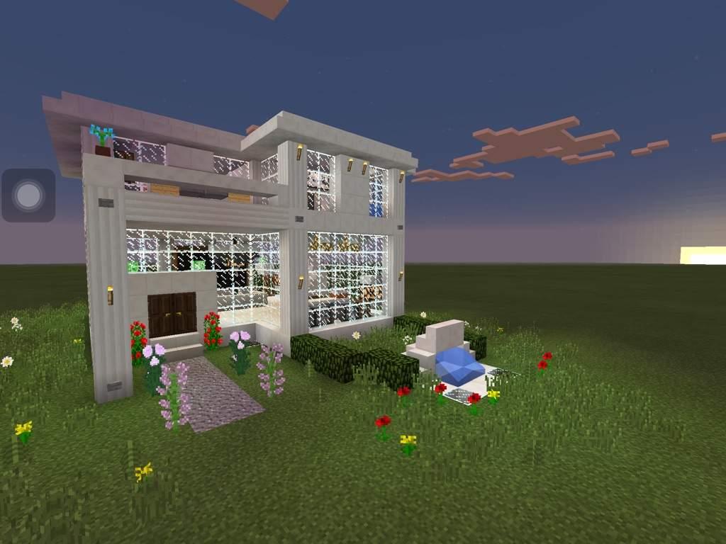 "Modern ""Glass"" House Build!  Minecraft Amino"