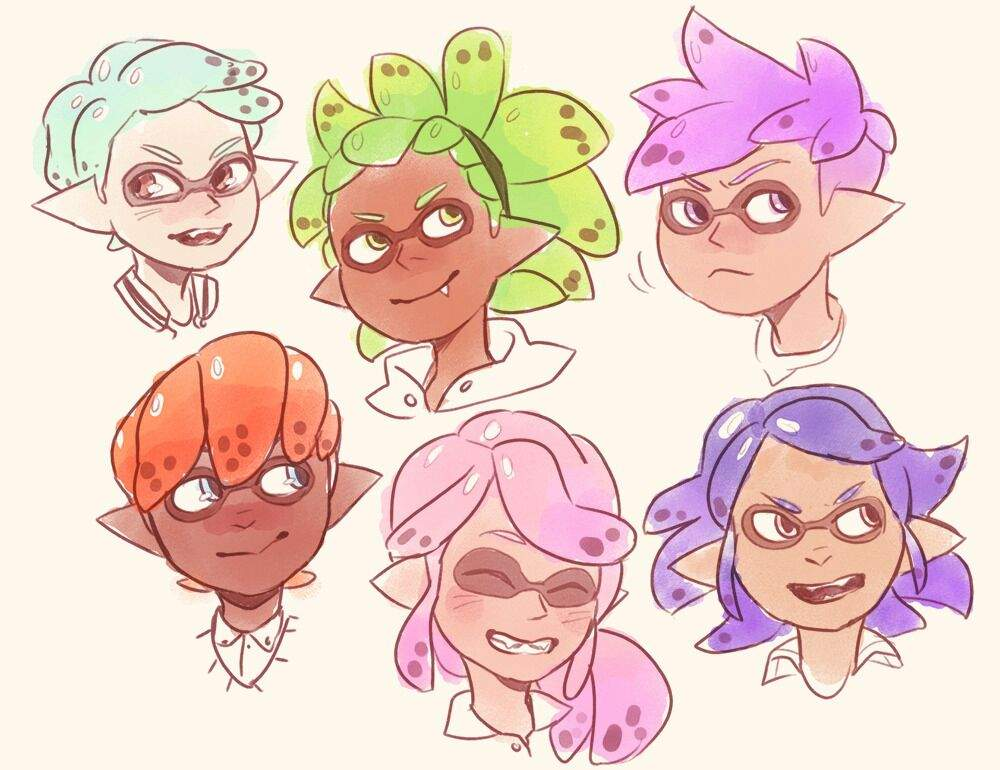 All Hair Styles: Splatoon Hairstyle Drawing Challenge