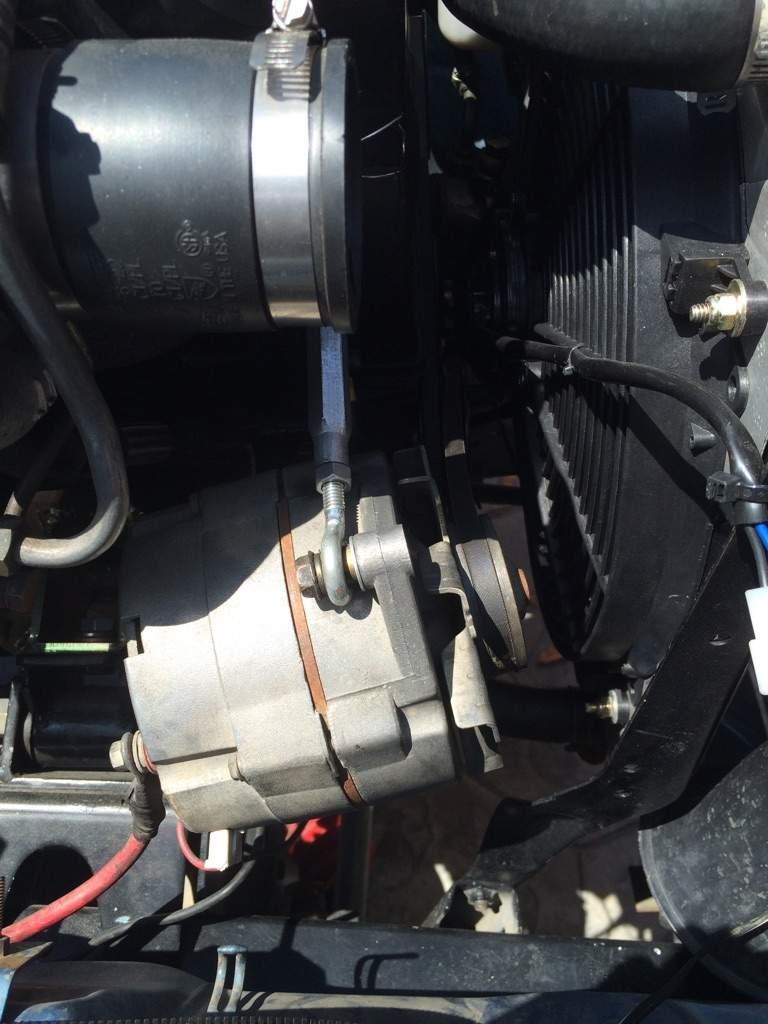 Suzuki Samurai Alternator Bracket Wiring Diagram On Centrifugal Fan The I Modified To Fit Gm 10si Decided Break It Nearly