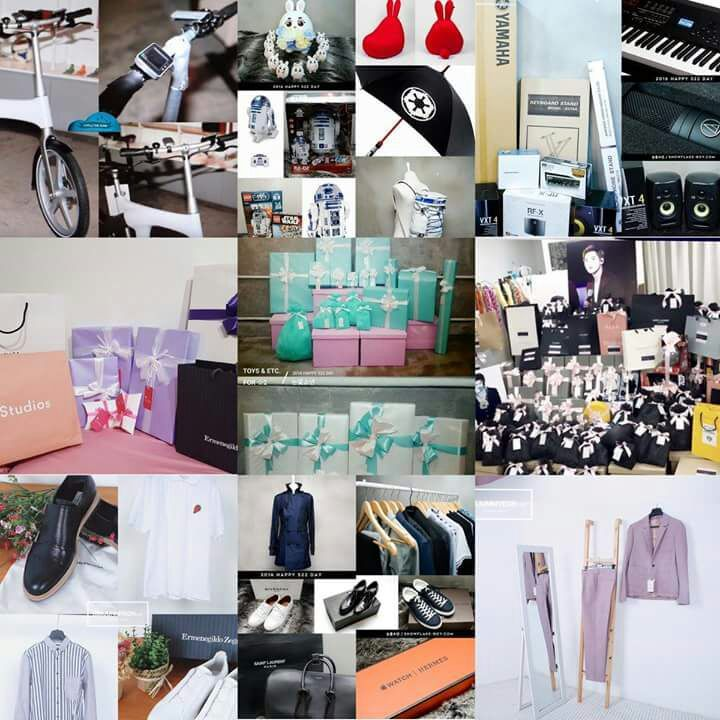 Compilation Of Suho's Birthday Gifts From His Fansites