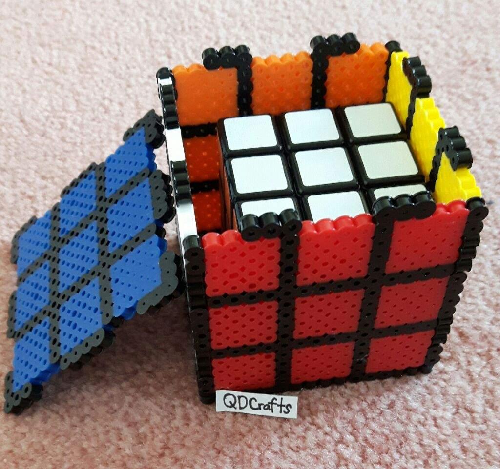 3d perler bead rubik s cube crafty amino