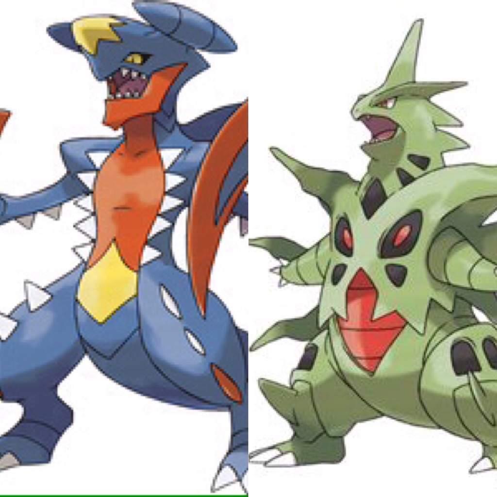 mega garchomp vs mega tyranitar - Pokemon Carchacrok