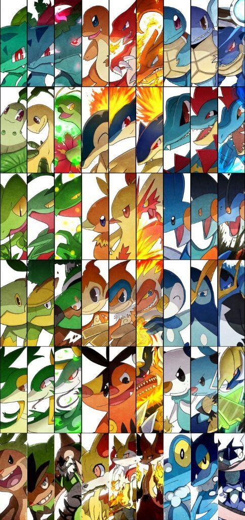 all starter pokemon from gen 1 to gen 6 anime amino