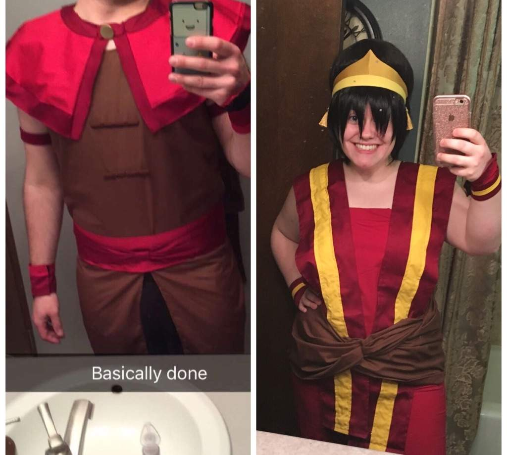 My friend and I cosplayed Toph and Sokka fire nation outfits! I made her wig from two wigs and a half styrofoam ball!  sc 1 st  Amino Apps & Fire Nation Toph | Cosplay Amino