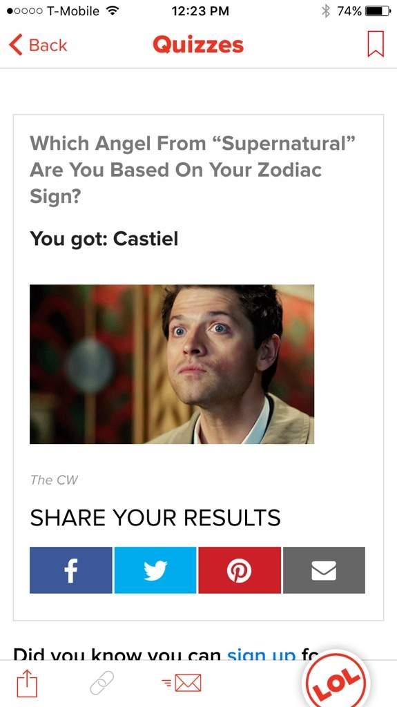 Buzzfeed Quiz! | Supernatural Amino