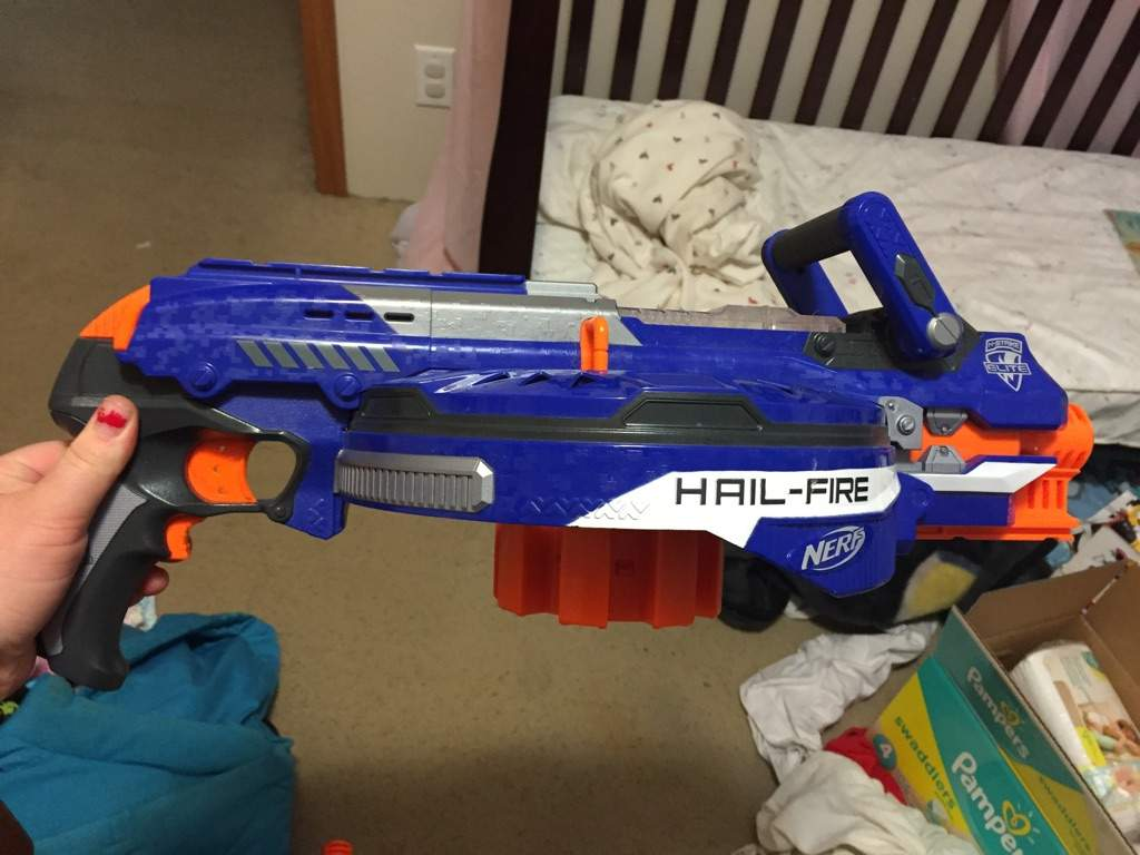 Steampunk Nerf Gun -- Disassemble a nerf gun and repaint it with spray paint .