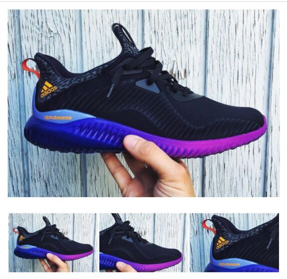 Adidas Alpha Bounce Black Purple Blue  1aa66c857