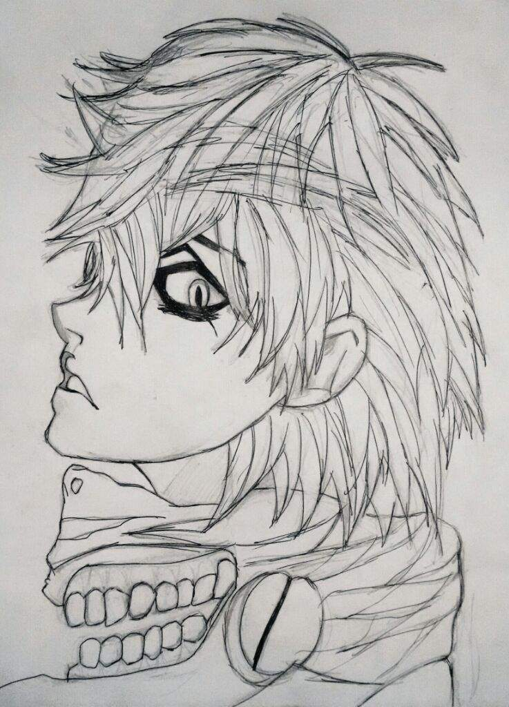 Dibujo de Kaneki Tokyo Ghoul  Anime Amino