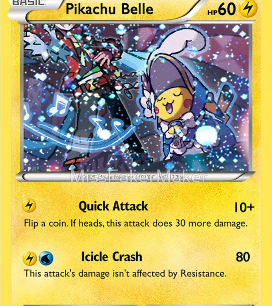 Custom Tcg Card Cosplay Pikachu Belle Pokemon Amino