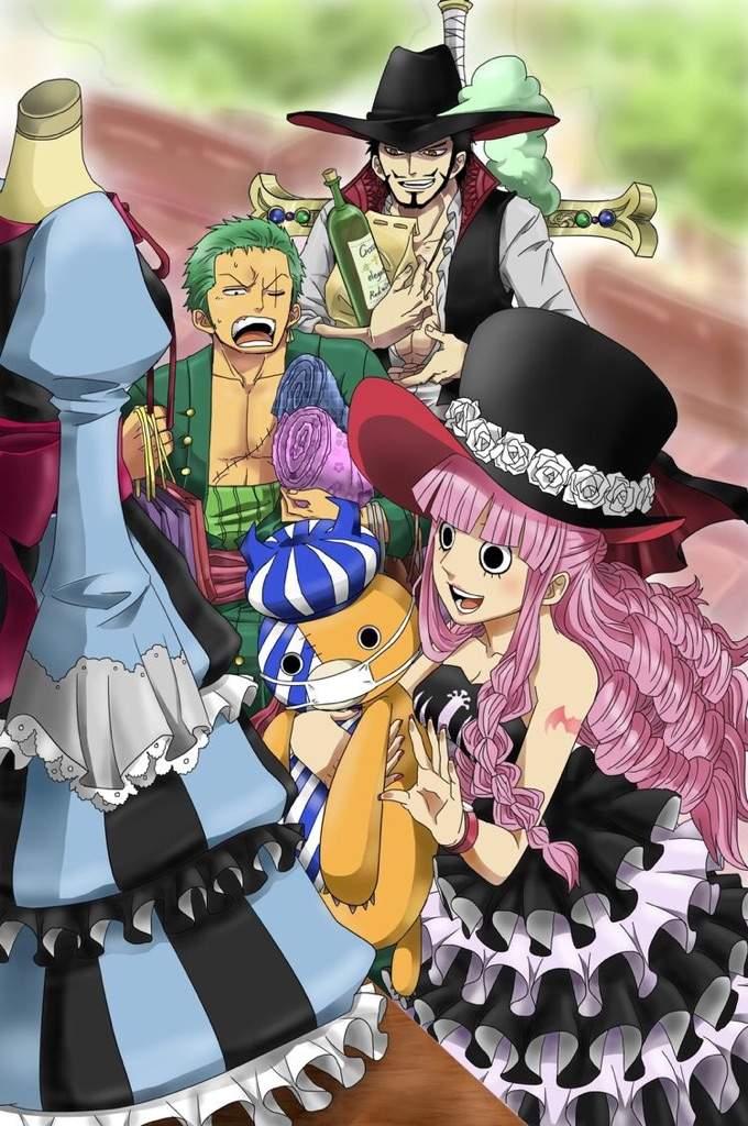 Zoro, Mihawk and Perona | One Piece Amino