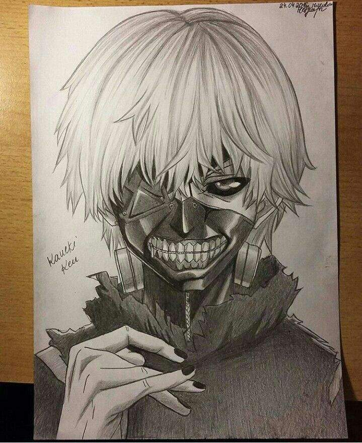 A Ken Kaneki Pencil Drawing