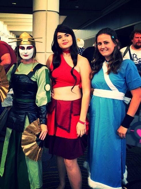 Avatar Fire Nation Katara Cosplay Costume Set
