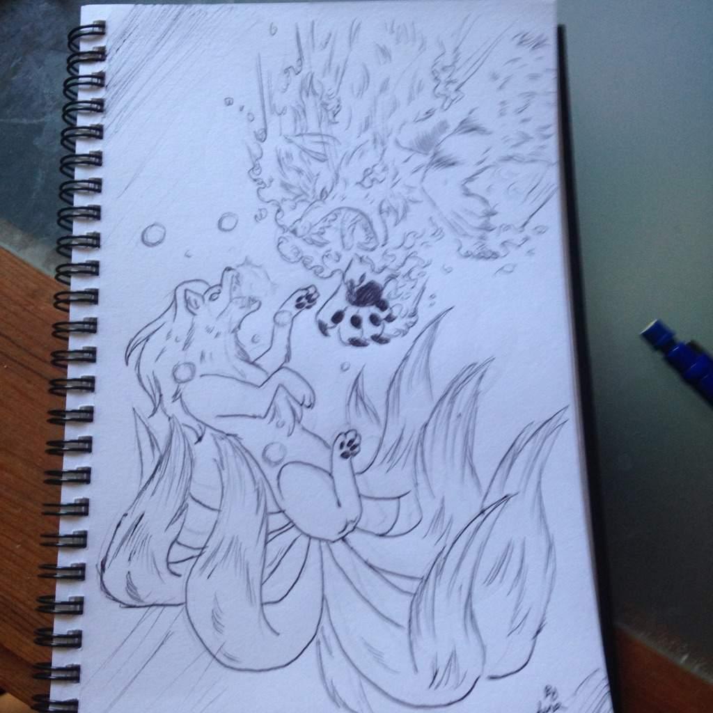 Arcanine Vs Ninetales Dibujo