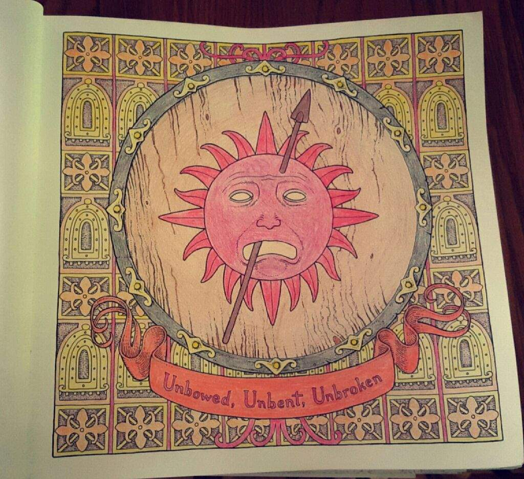 finished another coloring from the book i loved house martell - Game Of Thrones Coloring Book