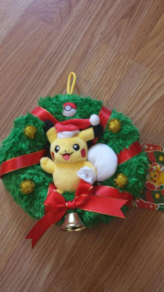 Pikachu Christmas Ornament.Pikachu Plush Christmas Wreath Pokemon Amino