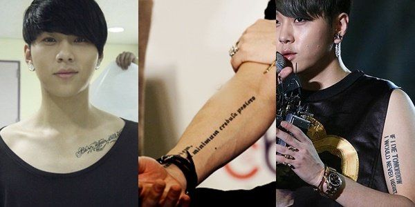 Deep meanings behind k pop idols tattoos k pop amino quam minimum credula postero which means seize the day put very little trust in tomorrow fans would know that this is his motto that he lives by altavistaventures Image collections