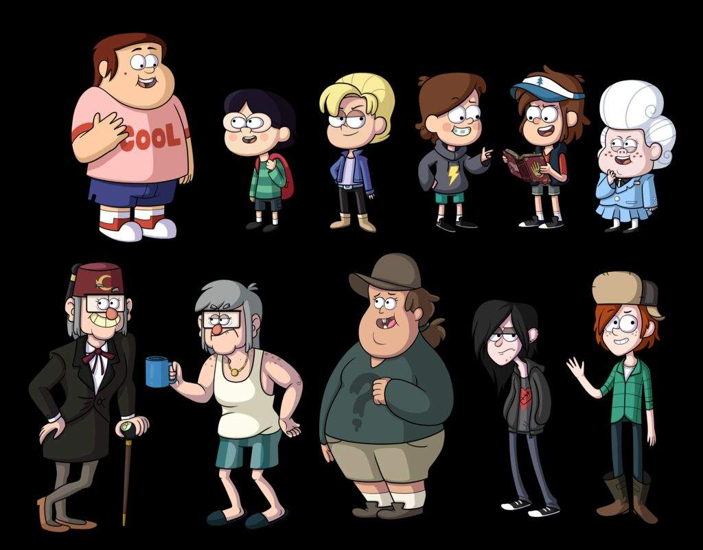 Гравити фолз картинки имена всех героев