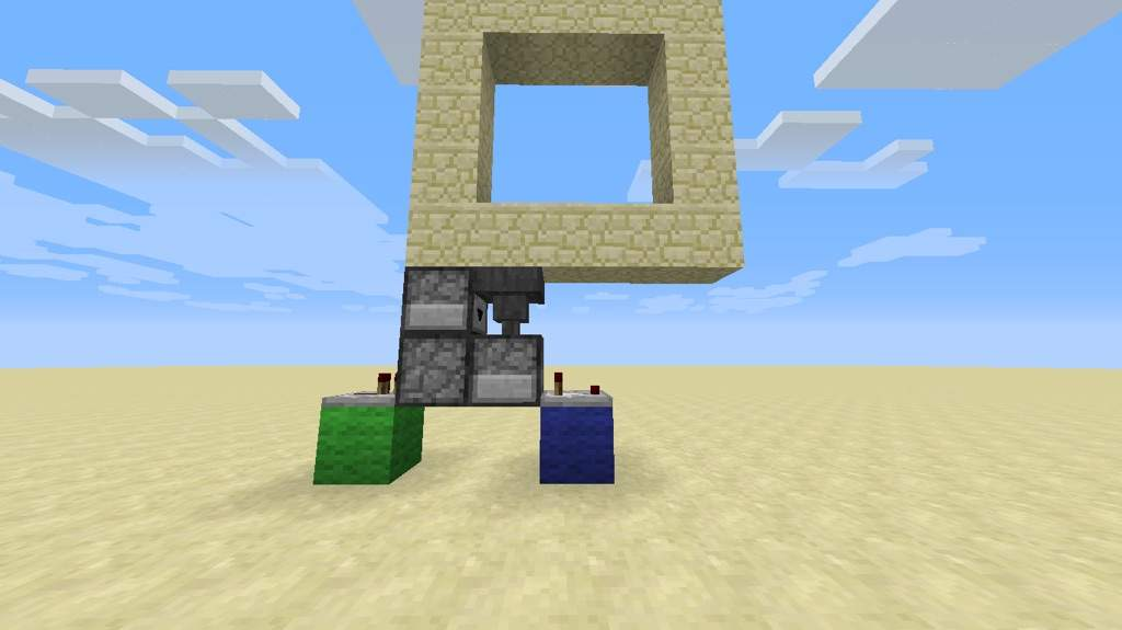 Build a flipped L and put a redstone piece on the block the comparator is facing towards. & How to build a 3x3 piston door! | Minecraft Amino