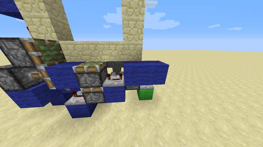 Make the second layer of the door. Do not destroy any of the redstone. Add sticky pistons as shown and then add redstone dust along the top. & How to build a 3x3 piston door! | Minecraft Amino