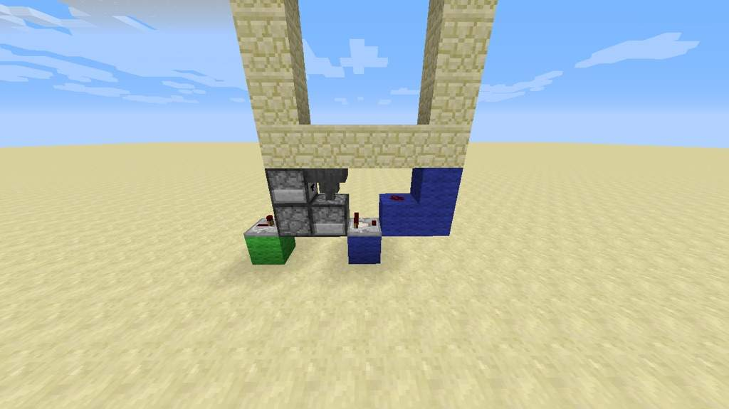 Add a redstone torch to the side of the highest block shown in the picture below. Add another block 2 blocks below the redstone torch and place redstone ... & How to build a 3x3 piston door! | Minecraft Amino