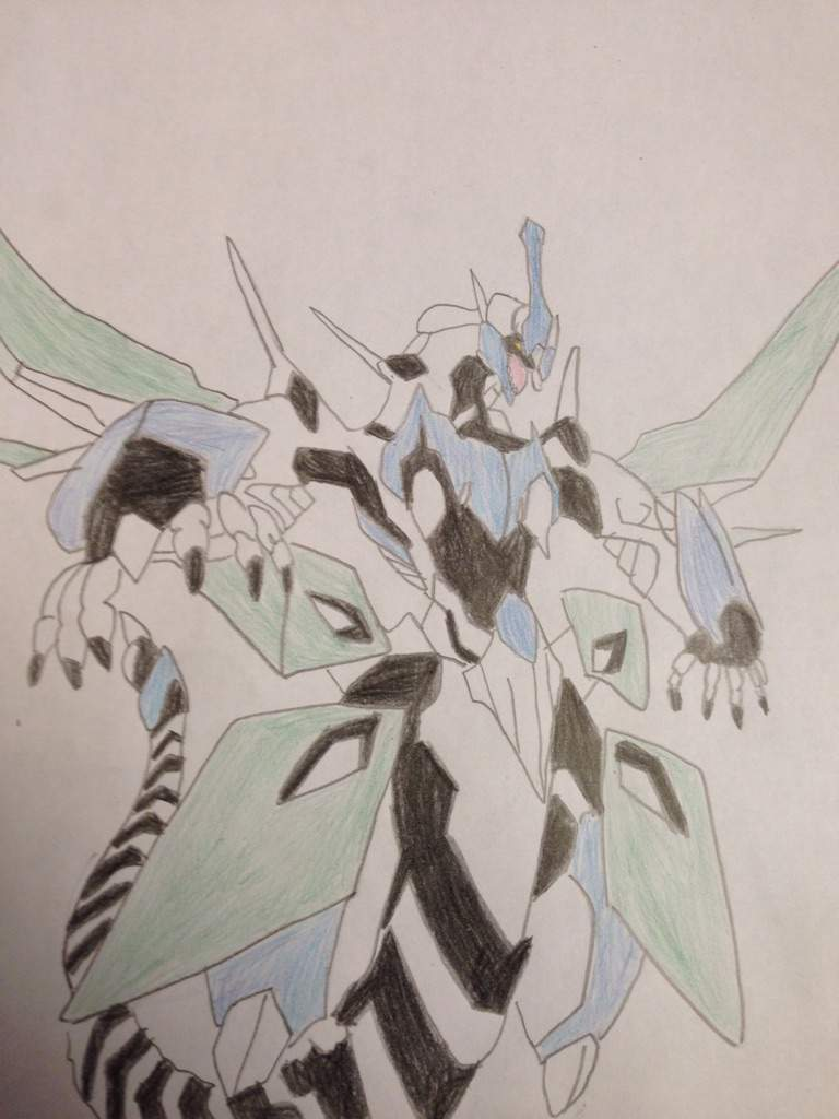 Drawing of clear wing synchro dragon