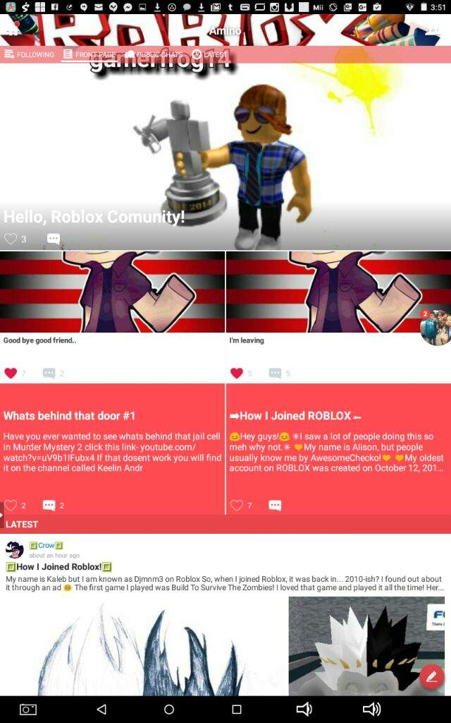 I Like To Copy And Paste Xd Roblox Well I Made It To The Front Page Only For A Little Bit Though Xd Roblox Amino