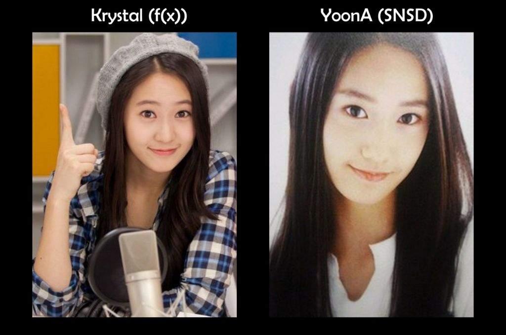 Kpop Look Alikes Part 2 | K-Pop Amino Krystal Jung And Yoona Look Alike