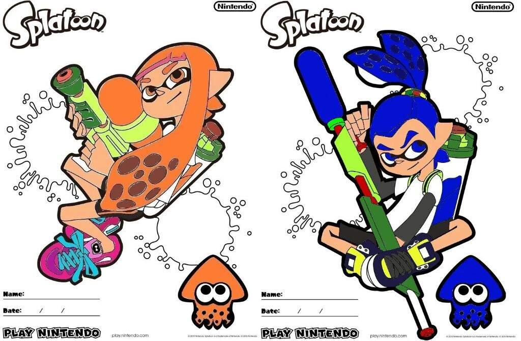 Play Nintendo] Splatoon (Printable) Coloring Pages | Splatoon Amino