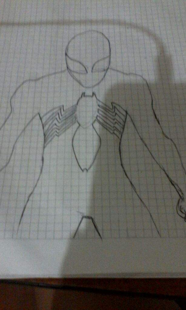 Dibujo Spiderman A Lapiz