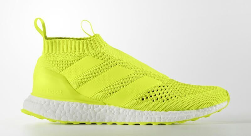 detailed look 35071 e29ed Referenced as a premium, cushioned running shoe with a football-inspired  style. The adidas Ace 16+ PureControl Ultra Boost is another laceless  silhouette ...