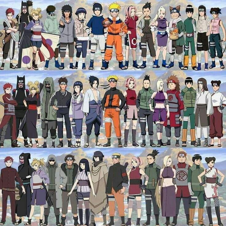 Personajes De Naruto Naruto: El Crecimiento De Los Personajes De Naruto