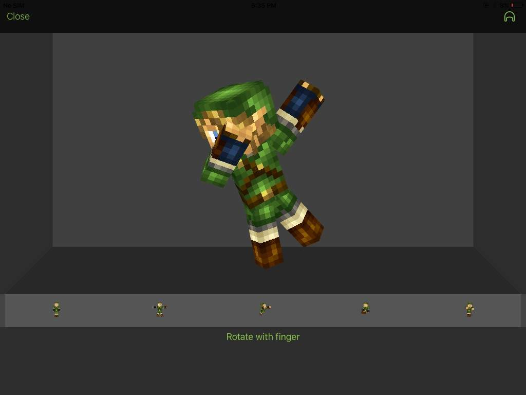 LINK doing DAB | Minecraft Amino